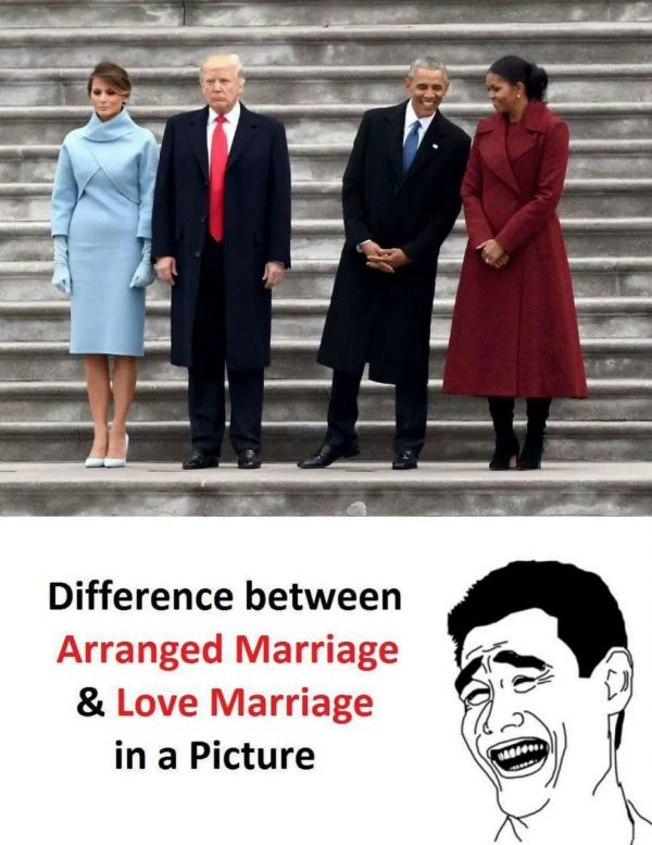Arranged vs Love Marriage Funny Meme