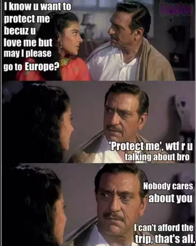 Cant Afford Hindi Movie Funny Meme