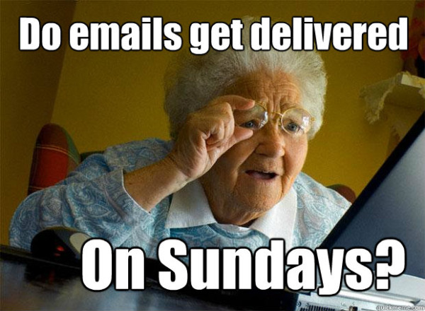 Emails On Sundays Meme