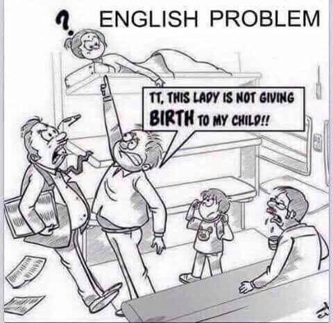 English Problem Funny Meme