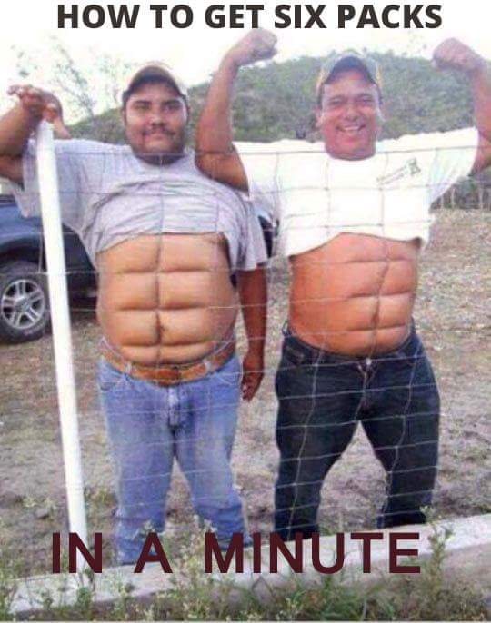Get Six Pack Minutes Funny Meme