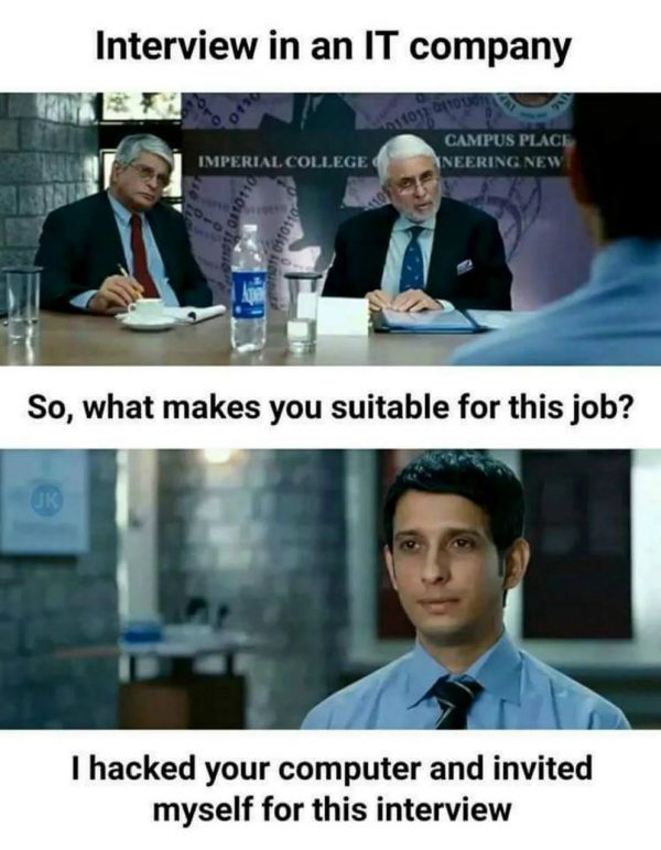 Interview in IT Company Funny Meme