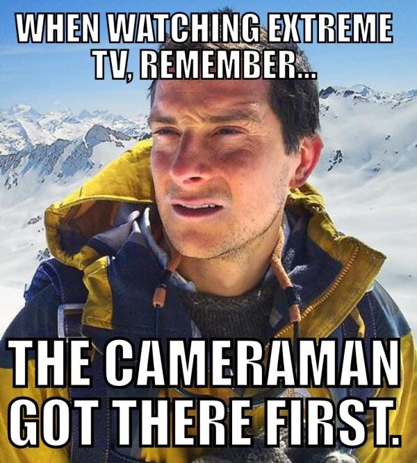 Man vs Wild Cameraman First Funny Meme