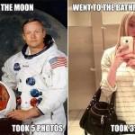 Moon VS Bathroom Selfie Funny Meme