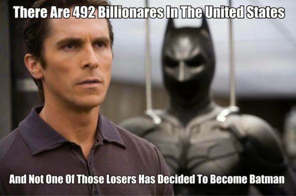 No Losers Become Batman Funny Meme