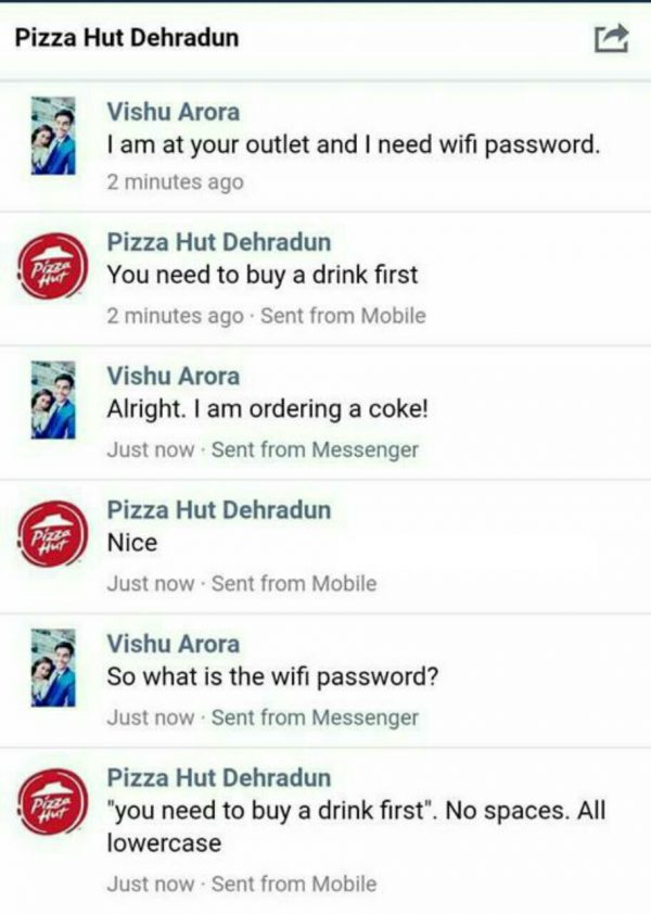 Pizza Hut Wifi Password Funny Meme