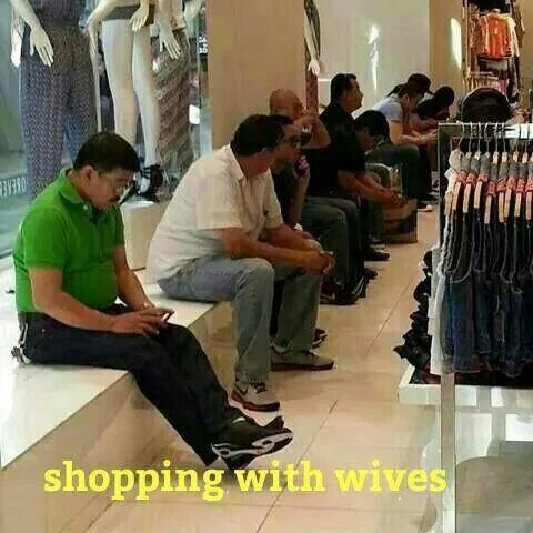 Shopping with Wife Funny Meme