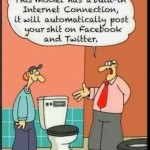Toilet Auto Post Facebook Twitter Funny Meme