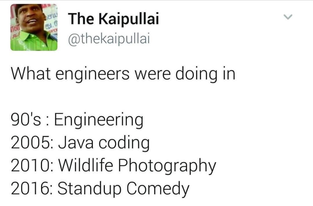 What Engineers were doing in Years Funny Meme