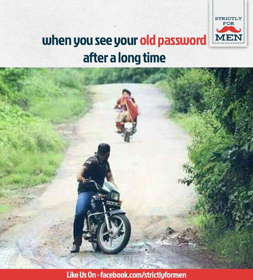 When you see Old Password Funny Meme